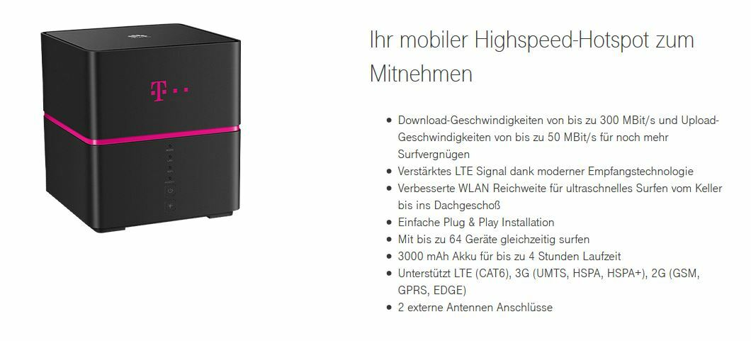 telekom speedbox mobiler wlan router als gigacube. Black Bedroom Furniture Sets. Home Design Ideas